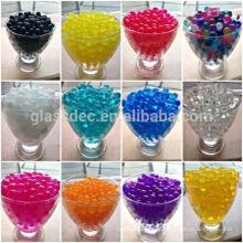 Sol cristallin, perles d'eau