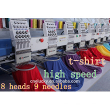 Eight heads high speed computerized embroidery machine