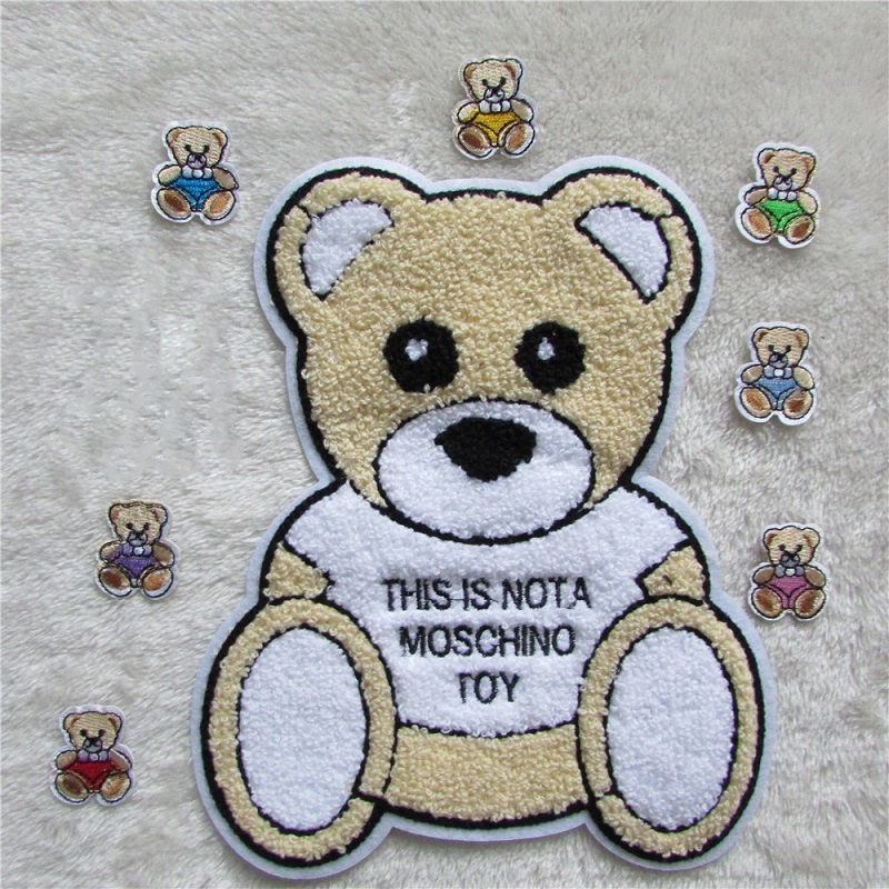 Cartoon Cute Little Bear Embroidery