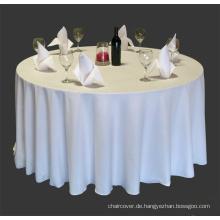 100 % Polyester Bankett Tischtuch / Tischdecke visa / Polyester table Cover