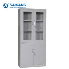SKH050 стеклянные медицинские двери офиса шкаф с замком