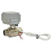 CE / RoHS Mini 3/4 Zoll Motorisierte Durchfluss Messing Kugelhahn (T20-B2-A)