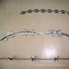 BTO-22 usine galvanisée de fil barbelé de rasoir galvanisé
