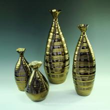 Buen color de cerámica de gran jarrón de cerámica grande para la decoración de flores (h1086)
