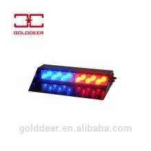 Auto luz de para-brisa de veículo de emergência luz estroboscópica azul/vermelho