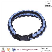 2013 produto pulseira de tecido Vners trançado Link sobreviver pulseira