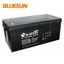 Bluesun batería cyle 12V 100Ah de almacenamiento de batería cyle con material de cáscara de ABS para 5kw de sistema solar de red