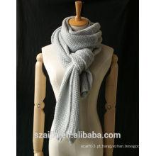 Moda nova inverno sólida tricô longa scraf