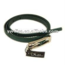 Simple Plain Real Leather Belt
