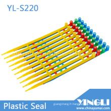 Scellés de sécurité de service intermédiaire à longueur fixe avec verrouillage inséré (YL-S220)