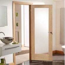 Puerta de baño de madera esmaltada