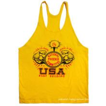 Racerback Plain Gym Tank Tops for Men Y Back Stringer Tank Top Wholesale