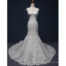 Vestido de boda nupcial Prom Eevening de sirena de encaje de alta calidad