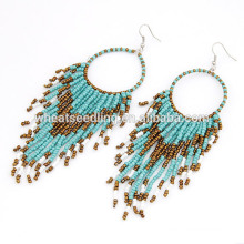 Bohemia style perles temperament dangle boucles d'oreilles