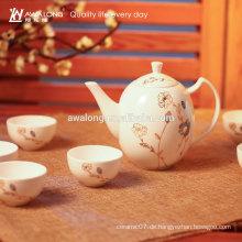 Grade A Großhandel chinesischen Stil gedruckt Knochen Porzellan Keramik Tee-Set