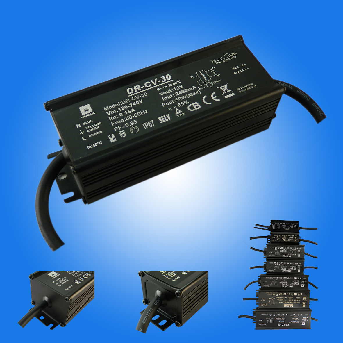 IP65 Aluminum Led Driver