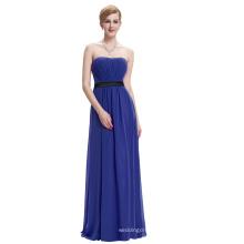 Starzz Strapless Off Shoulder Long Royal blue Simply Chiffon Bridesmaid Dress ST000066-5