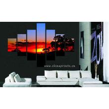 Puesta del sol Paisaje Diseño Pintura / Decoración del Hogar Pared colgante / hermoso paisaje pintura mural