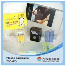 PVC/Pet/PP Plastic Wine Packaging Boxes