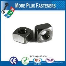 Fabricado en Taiwán M5-0.8 Clase 4.6 Acabado en zinc Acero regular Tuerca cuadrada DIN 557 DIN 562