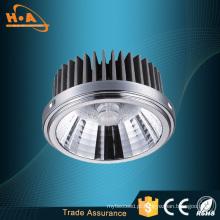 Luz do ponto do diodo emissor de luz da prata do fornecedor de Guangzhou / preto 12W AR111