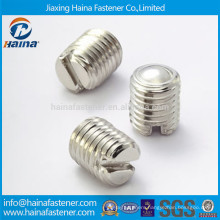 DIN551 Stainless steel slotted set screw with flat head