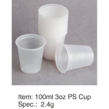 Popular Soft PS Plastic Cup Alta Qualidade 3oz / 90ml