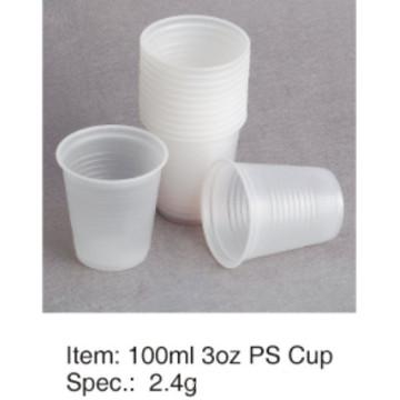 Популярный мягкий PS пластиковый стакан высокого качества 3 унции / 90 мл