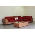 Utterly Interesting Sectional Sofa Set for Indoor Furniture Using Natural Water Hyacinth Weaving