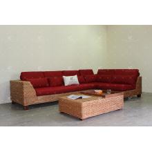 Крайне интересные секционный диван Набор для крытой мебели с использованием природного водного Гиацинта сотка