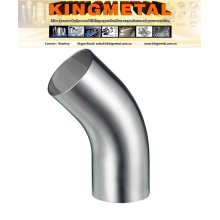 A270 AISI 316L Santary Tube Fitting Inox Steel Long 90 Degree Elbow