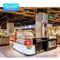 High Quality Pusher Four Column Shelves Convenience Shelf Supermarket Supermarket Shelf Display Metal Wood