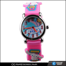Pulseira de silicone rosa kids cute watch with dog