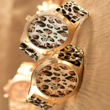 New Designer Girls Silicone Leopard Strap Watches