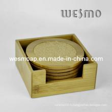 Деревянная подарочная коробка и пробковая подушка (WTB0503A)