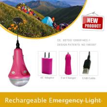 Linterna solar LED con 5V cable de carga para cámara digital