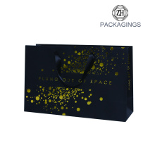 Black matt gold stamping handle paper bag