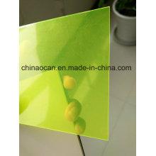 Fluorescence Yellow Color PVC Transparent Sheet