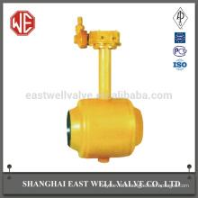 Gear lever fully welded ball valve