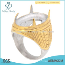 Factory price amethyst stainless steel yellow gold indonesia rings with good quality