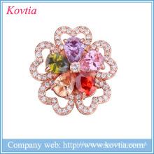 Свадебные горный хрусталь цветок броши женщины платья броши Китай поставщики yiwu jewelry