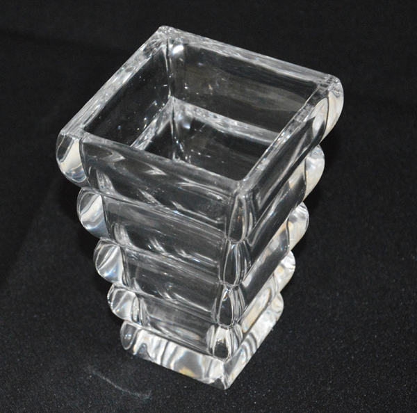 Ladder Shape Clear Glass Vase