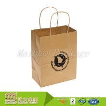 Good Quality Low Cost Customised Reusable Brown Kraft Paper Bag Jakarta Factory Wholesales