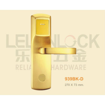 brass material RF card type electric hotel door lock