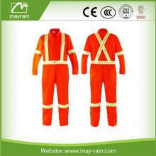 Orange+Reflective+Safety+Coverall+Suit