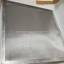 Toile métallique noire pour filtre à particules en plastique