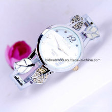 Silver Round Ladies Bangle Bracelet Watch Quartz