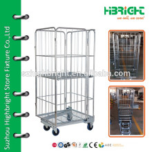 folding cargo storage container roll