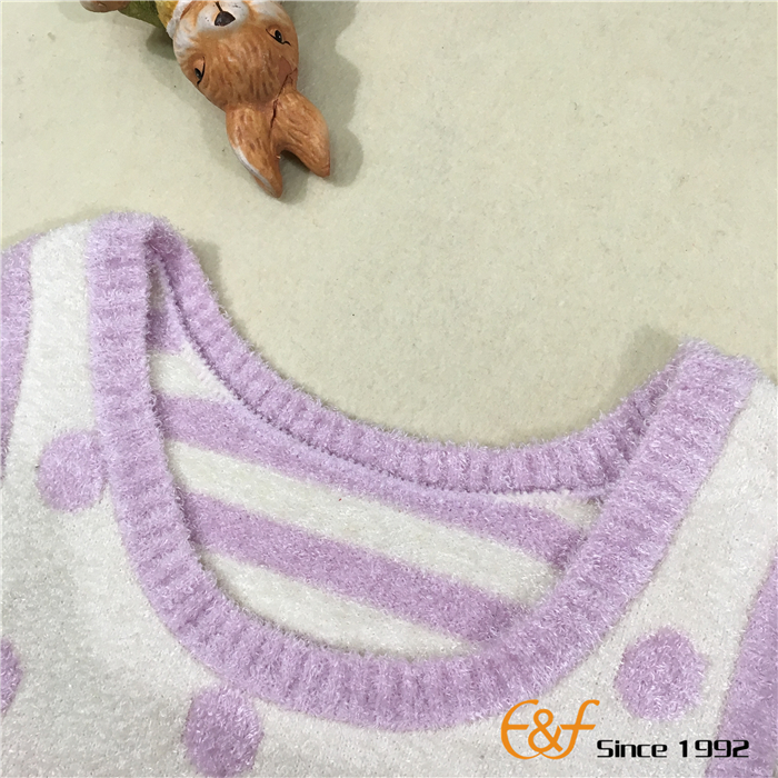 Deep Neck Sweater For Baby Girl