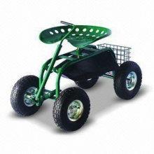 Tracteur de jardin avec panier
